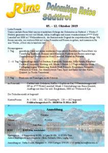 Anmeldung Dolomiten